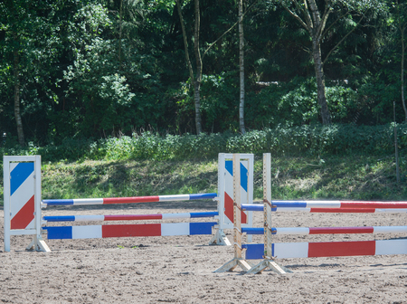 show jumping as a competitive sport with an obstacle Stock Photo - 102847849