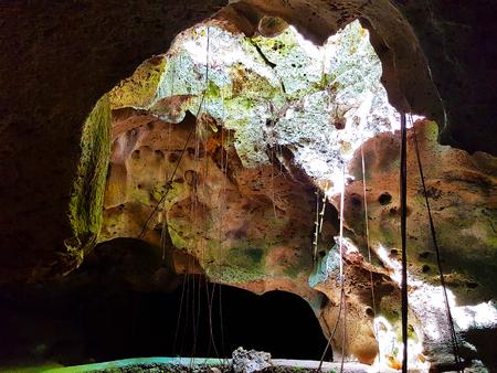 Bat cave in Jamaica Stock Photo