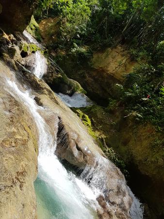 Ocho Rios - Blue Hole in Jamaica Stock Photo