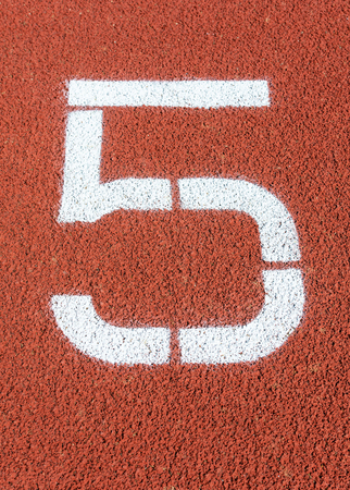 Runway mark on an athletics track Фото со стока - 103473433