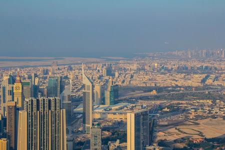 Dubai skyline as aerial view