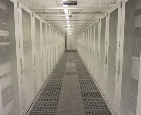 Server rack in data center