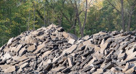 Gravel pile after a demolition building on a building site 版權商用圖片