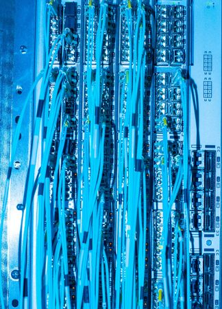 Network switch and network fiber optic fiber in a data center