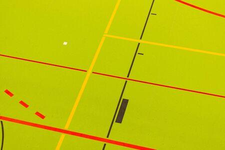 Basketball Hall and Handball Hall floor in a gym