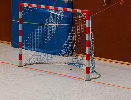 Handball hall floor in a gym Stok Fotoğraf