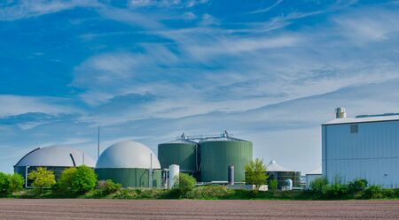 Biogas is planning for power generation and energy Standard-Bild
