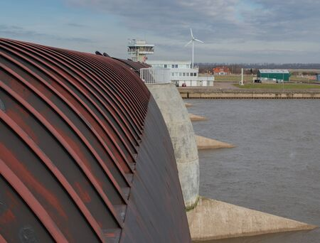 Eider Barrage to protect against storm surges in the North Sea Фото со стока