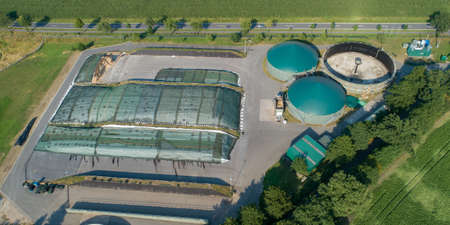 Biogas plant for power generation and energy generation during a drone flight