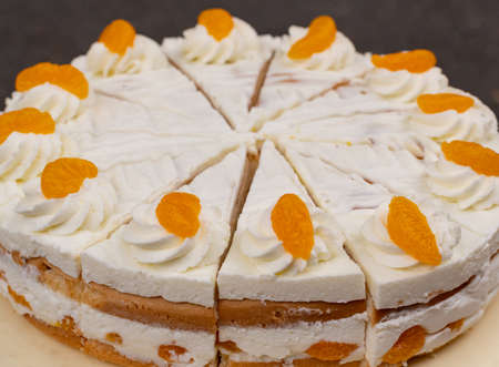 Cream mandarin cake fruity and creamy cake for the summer