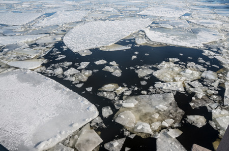 ice floes: Floating of ice Stock Photo