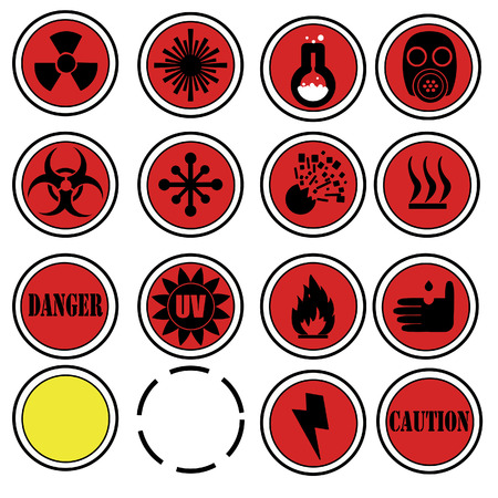 attention icons for laboratory Stock Vector - 6667279