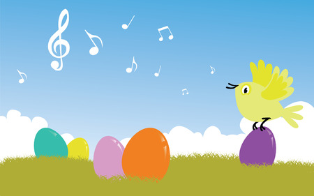 birdsong: bird singing easter song