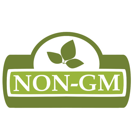 gm: Label on the products, designating absence in a product of genetically modified components