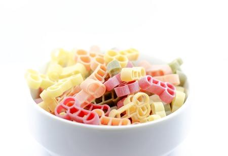 Italienische Pasta Penis Form auf dem weißen Hintergrund Standard-Bild - 98532164