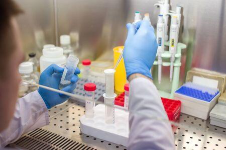 Scientist researching in laboratory Standard-Bild - 134133552
