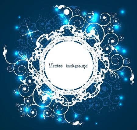artistically: artistically abstract circle on a dark blue Illustration