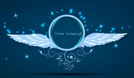 black swan: wings vector Illustration