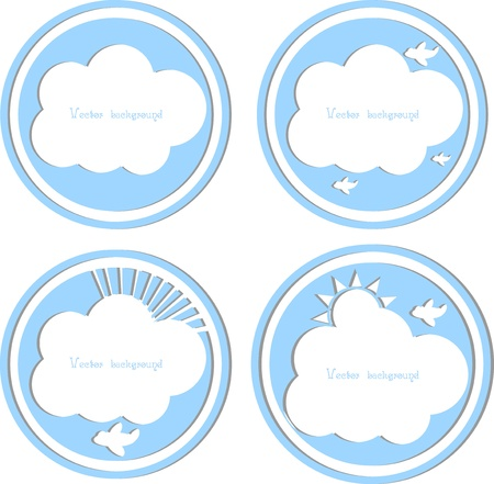 cloud vector set Vector
