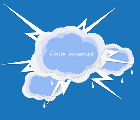 cloud lighting vector Stock Vector - 11041208