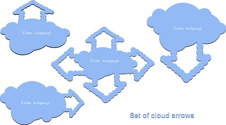 cloud arrow vector Stock Vector - 11041210