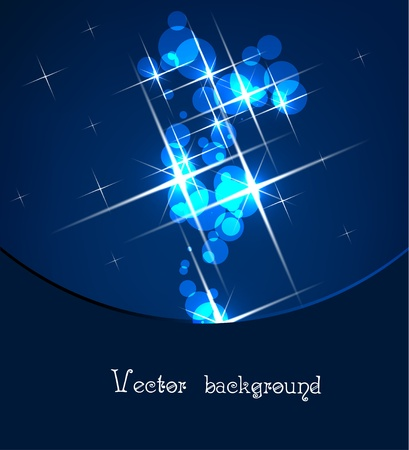 deep blue background with lights Stock Vector - 11041229