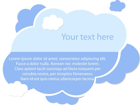 Light blue cloud for your text Vector