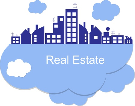 real estate agent: City on clouds