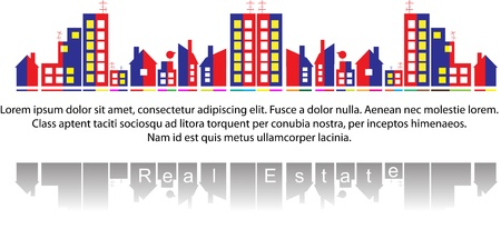 property investment: Real estate Illustration