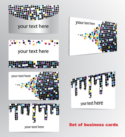 Set of business cards Stock Vector - 11105885