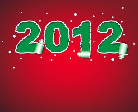 2012 happy new year torn paper   Vector