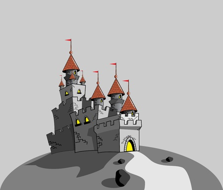 Grey amazing castle vector format Vector