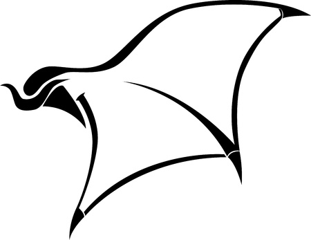head protection: devil wings tatoo vector