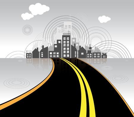 road to city vector Vector