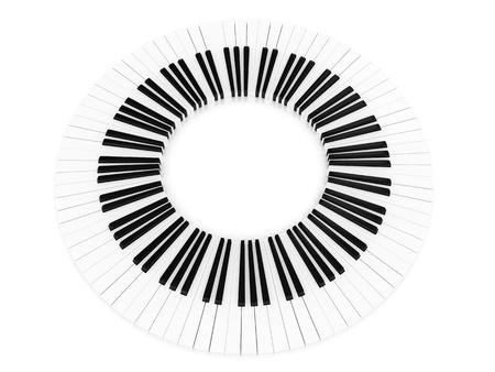 Piano key rounded  photo