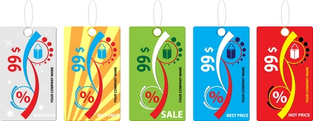 massage symbol: hot labels for price vector Illustration