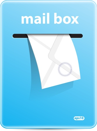 postbox: Mail box vector format
