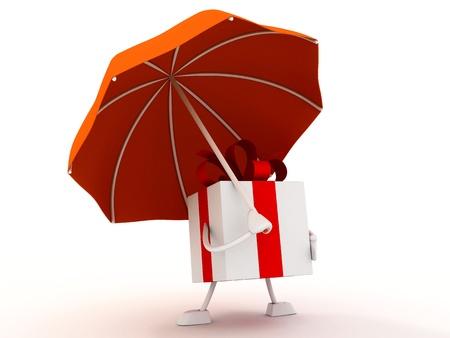 gift with umbrella photo