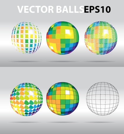 Vector color beautiful balls Vector