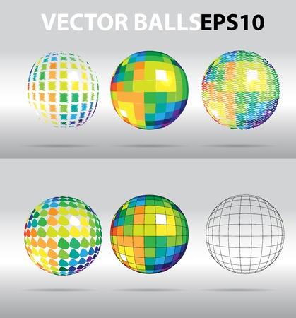 Vector color beautiful balls Vector