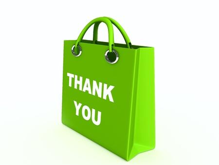 Green paper bag photo