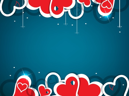 friendship day: Heart valentine background