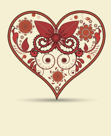 Vintage heart background Vector