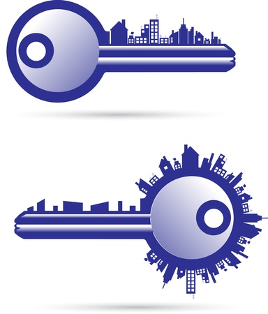 Keys real estate Vector