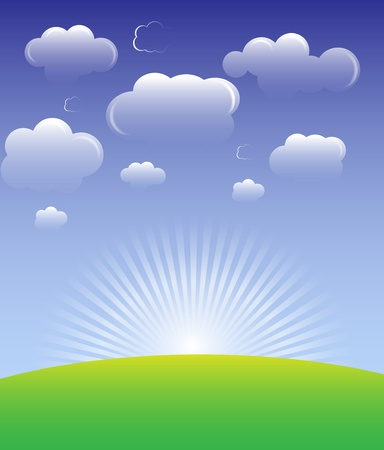 Cloud background vector Stock Vector - 11882470