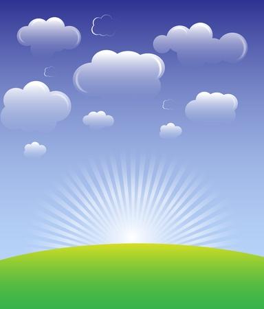 Cloud background vector Stock Vector - 11882470