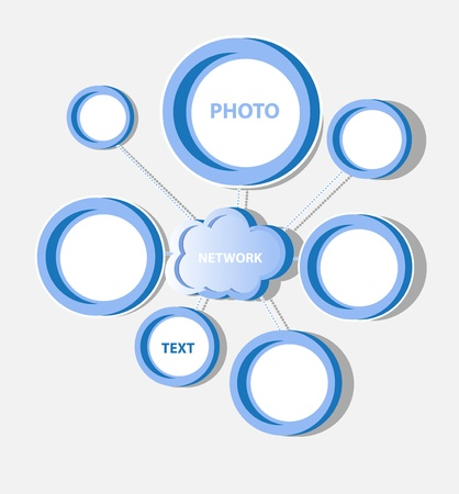 Cloud social network Stock Vector - 11882468
