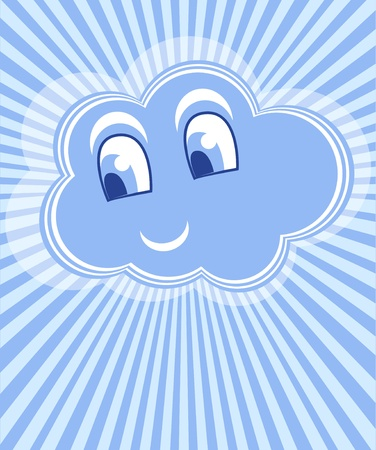 Cloud smile vector Vector