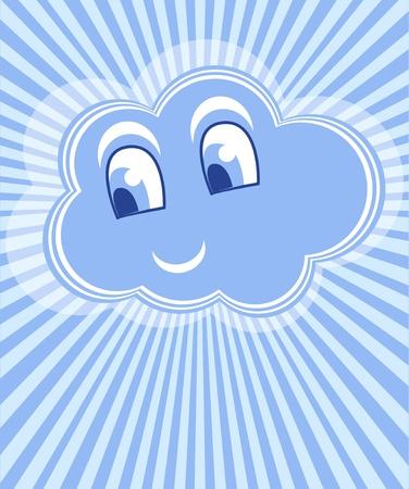 Cloud smile vector Vector
