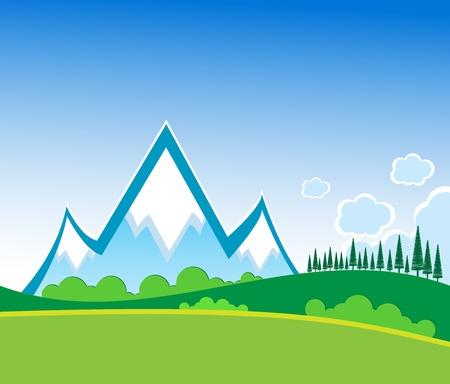 Mountain vector-formaat Vector Illustratie